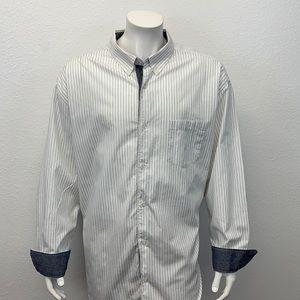 Cubavera White Gray Cuban Dress Guayabera Shirt 4X
